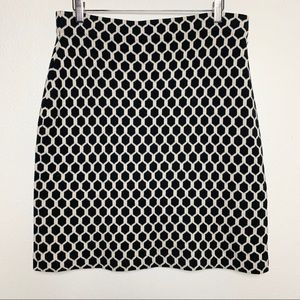 BANANA REPUBLIC L geometric print pencil skirt C